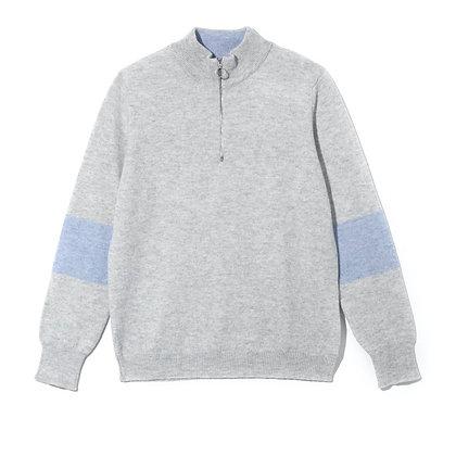 Suffolk Quarter Zip Jumper (Grey)