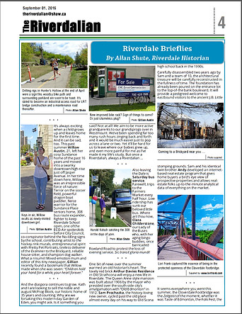I was thrilled to have the local community newspaper contact me to feature my painting of the Cloverdale Footbridge in September/16.