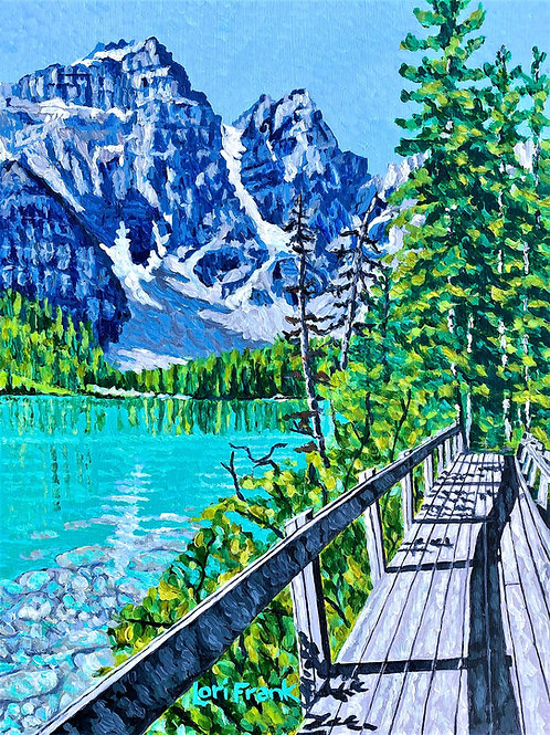 Beside the Still Waters,  Moraine Lake,  Alberta
