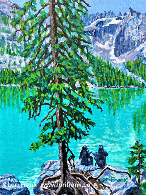 Hangin' by the Roots,Moraine Lake, Lake Louise, Alberta