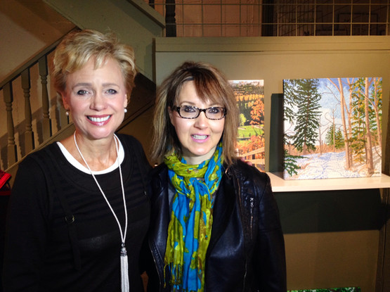Interview with Lorraine Mansbridge on Global TV in 2014 for an upcoming show with the Night of Artists.