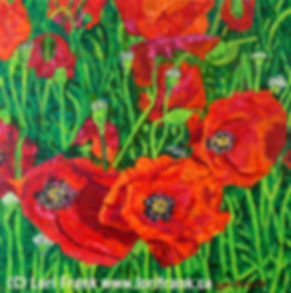 Poppy painting by Candian artist Lori Frank