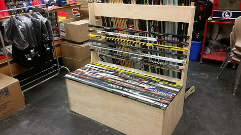 Hockey stick bench