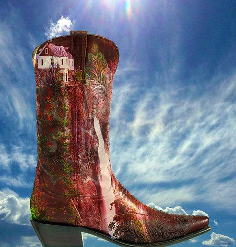 Red Bridal Veil Boot
