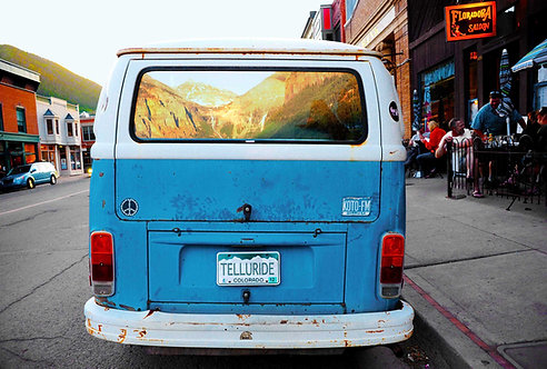 Blue VW Reflection, Telluride