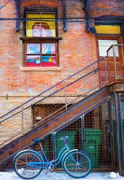 Blue Bike in Alley