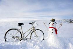 Bike and Snowman