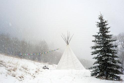 Snow Teepee