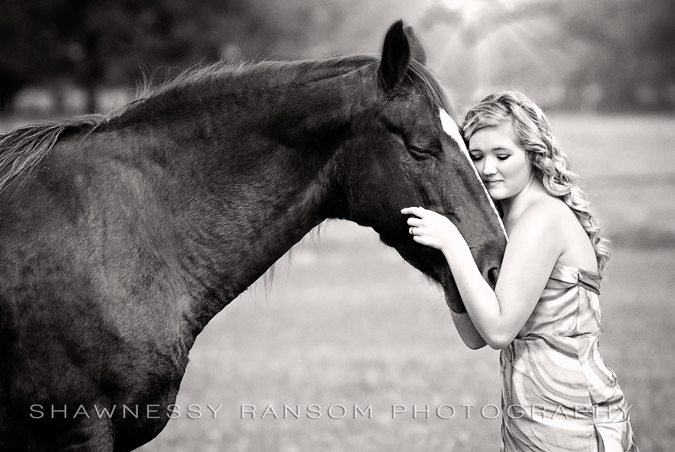 Senior Portraits with Horse Dallas