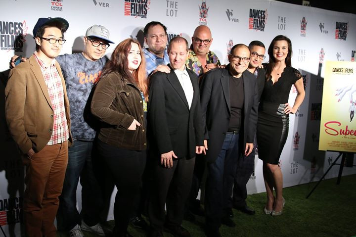 The cast and crew of SUBCULTURE in attendance on the red carpet.