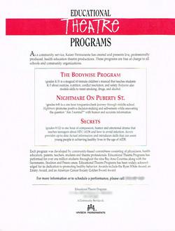 Educational Theatre Programs