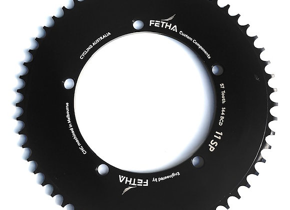 """Track Chainring (5 Bolt) 144 BCD    3/32"""" Tooth Sizes 59T -68T"""