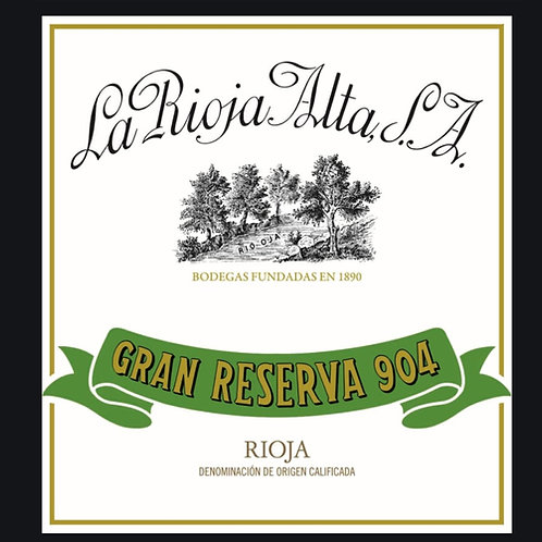 """Tempranillo 2010 Rioja  Gran RSV, """"904"""" La Rioja Alta, Spain - 750ml"""
