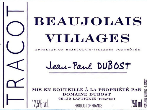 """Beaujolais Village """"Tracot Rouge"""""""