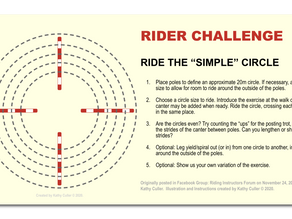 "RIDER CHALLENGE: Ride the ""Simple Circle"""