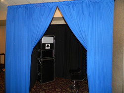 Photo Booth Lounge Blue Accent