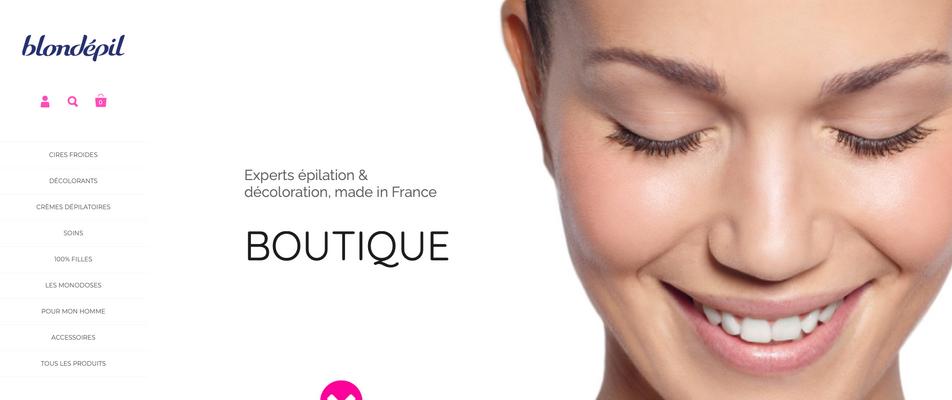 Blondépil | e-commerce