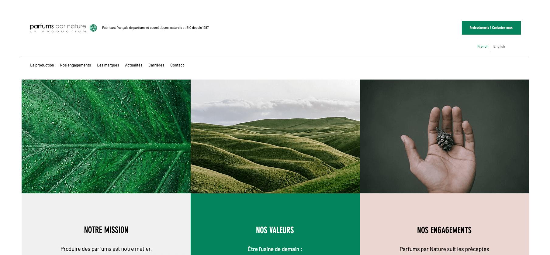Parfums par Nature | Site & SEO