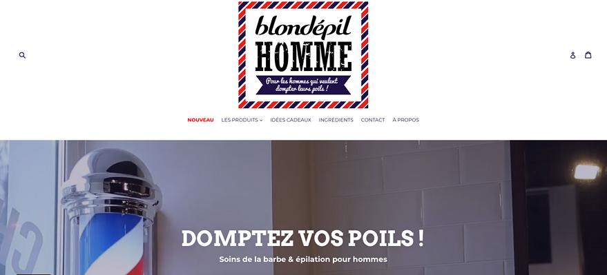 Blondépil Homme   e-commerce