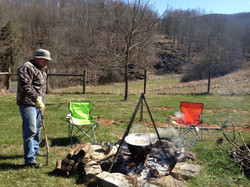 Boiling Maple Sap with Dad