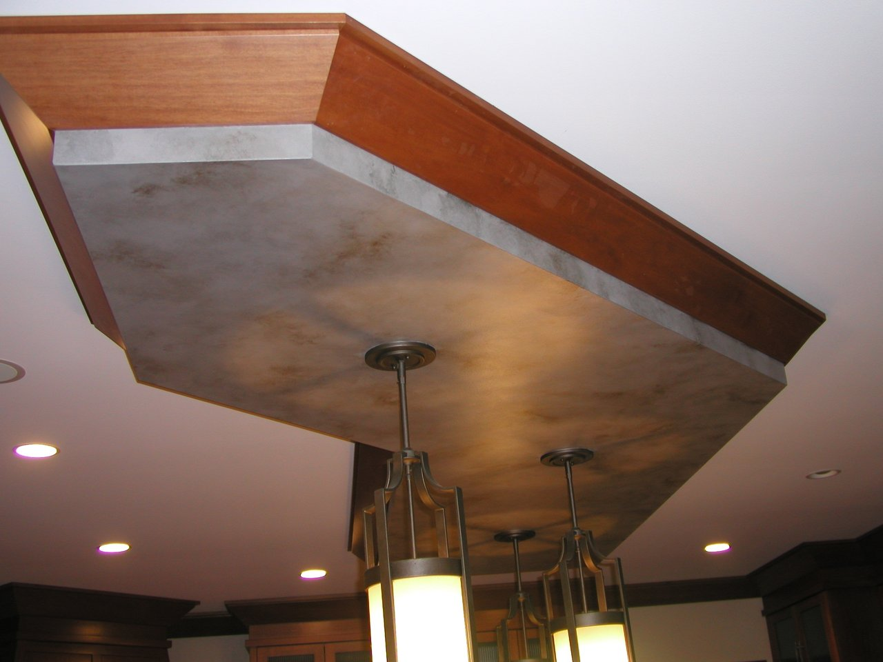 The kitchen drop soffit.
