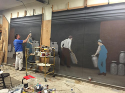 2 Murals, 8'W x 10'H, 10'W x 10'H, Completed and awaiting install this spring, For the Fairmont Crea