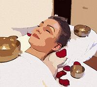 massage bol tibétain cartoon oil paintin