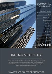 Clean Air Thailand INdoor Air Quality IAQ Brochure