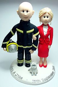 Flight Attendant, Stewardess Wedding Cake Topper
