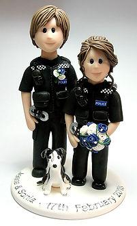 Lesbian Wedding Cake Topper LGBT Police Uniform