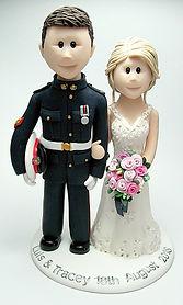 Royal Marines Uniform Themed Wedding Cake Topper