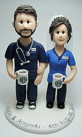 Doctor Nurse NHS Themed Weding Cake Topper