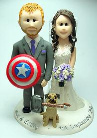 Marvel Themed Wedding Cake Topper