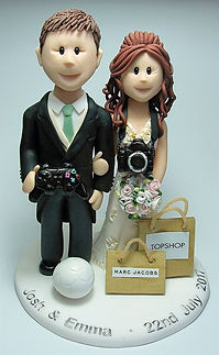 Photography Themed Wedding Cake Topper