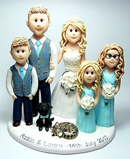 Family Group Wedding Cake Topper