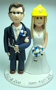 Doctor and BP Wedding Cake Topper