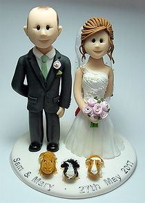 Wedding Cake Topper with Guinea Pigs