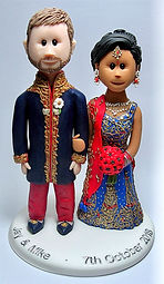Traditional Indian Wedding Cake Topper
