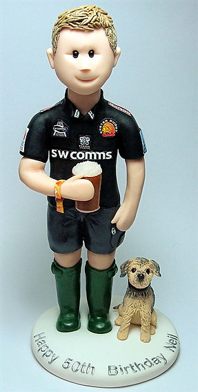 Rugby Player Birthday Cake Topper