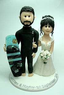 Watter Skiing Wedding Cake Topper