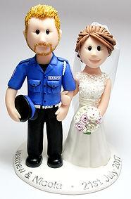 Handmade Uniform Wedding Cake Topper