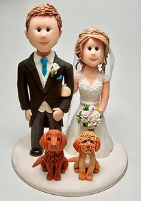 Weeding Cake Topper with 2 Dogs