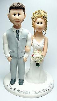 Handmade Bride & Groom Wedding Cake Topper