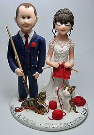Knitting & Cake Topper