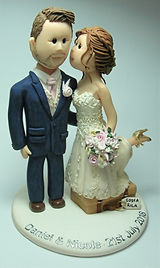 Bride Kissing Groom Wedding Cake Topper