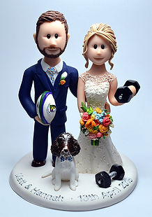 Rugby Wedding Cake Topper