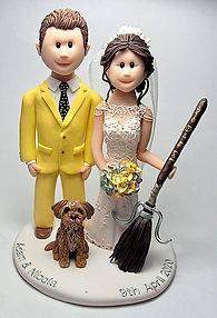 Harry Potter Themed Wedding Cake Topper