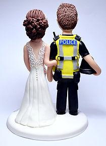 Police Themed Wedding Cake Topper Visi Vest Back View
