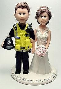 Police Themed Wedding Cake Topper Visi Vest