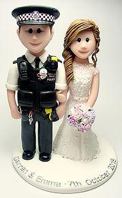 Handmade Police Uniform Wedding Cake Topper
